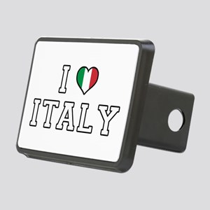I Love Italy Rectangular Hitch Cover
