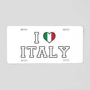 I Love Italy Aluminum License Plate