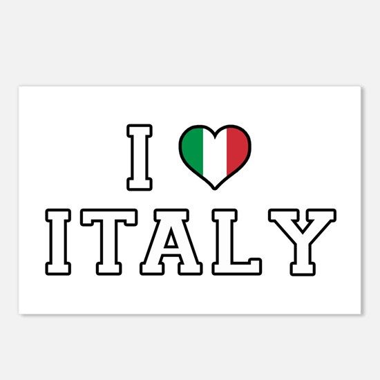 I Love Italy Postcards (Package of 8)