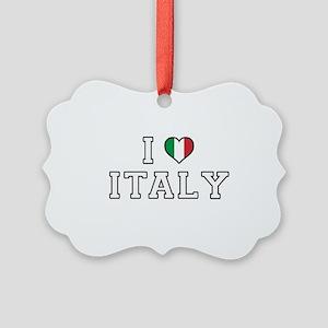 I Love Italy Picture Ornament
