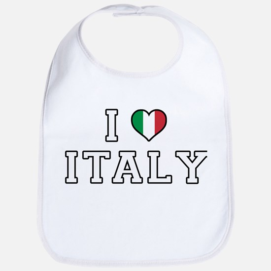 I Love Italy Bib
