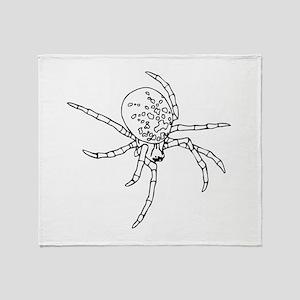 Black Widow Spider Throw Blanket