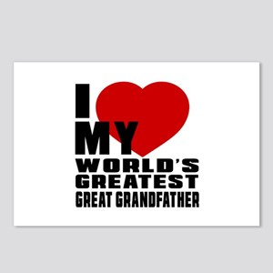 I Love My World's Greates Postcards (Package of 8)