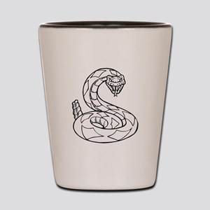 Diamondback Rattlesnake Shot Glass