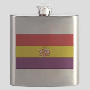 Flag of the Spanish Republic - Bandera Trico Flask