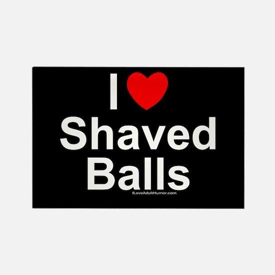 Shaved Balls Rectangle Magnet