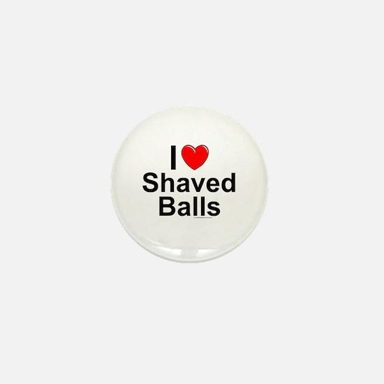 Shaved Balls Mini Button
