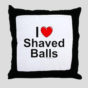 Shaved Balls Throw Pillow