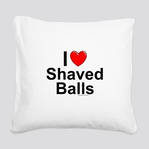 Shaved Balls Square Canvas Pillow
