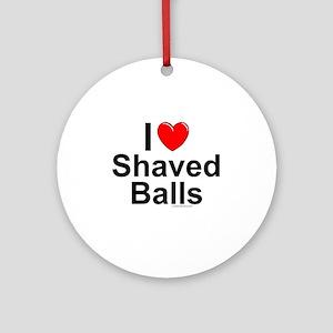 Shaved Balls Round Ornament