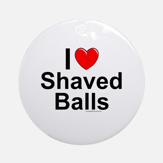 Shaved Balls Round Ornament