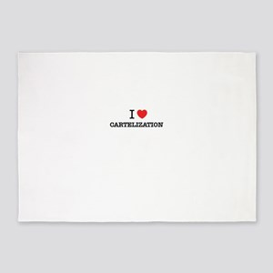 I Love CARTELIZATION 5'x7'Area Rug