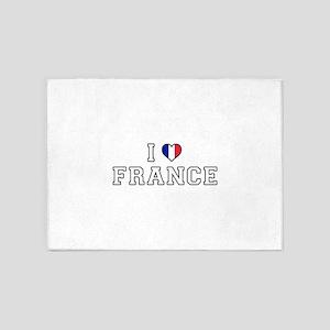I Love France 5'x7'Area Rug