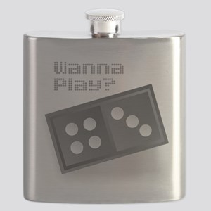 Dominoes - Wanna Play? Flask