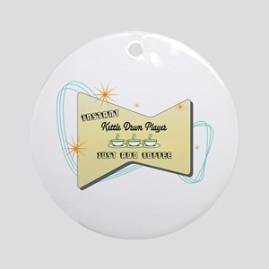 Instant Kettle Drum Player Ornament (Round)