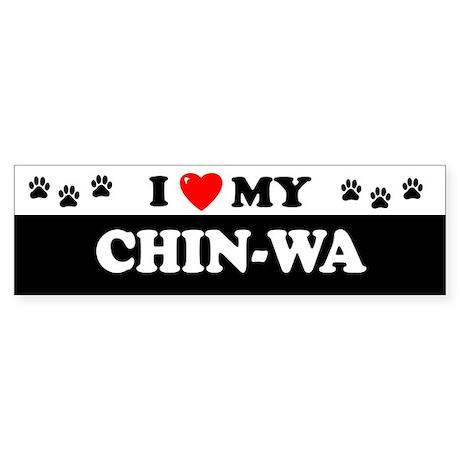 CHIN-WA Bumper Sticker