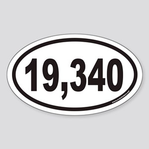 Mount Kilimanjaro 19,340 Euro Oval Sticker
