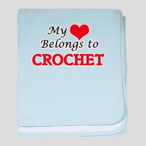 My heart belongs to Crochet baby blanket