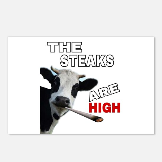 THE STEAKS ARE HIGH Postcards (Package of 8)