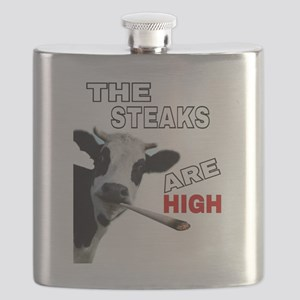 THE STEAKS ARE HIGH Flask