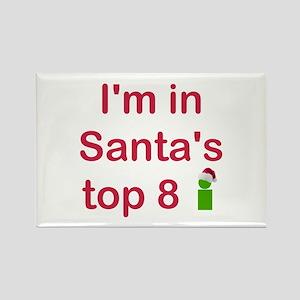 Santa's Top 8 Rectangle Magnet