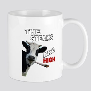 THE STEAKS ARE HIGH Mugs