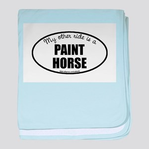 American Paint Horse baby blanket