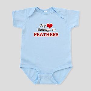 My heart belongs to Feathers Body Suit