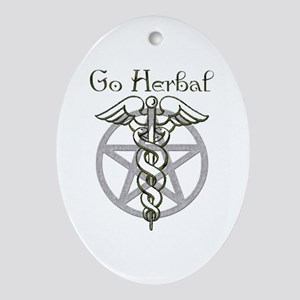 Go Herbal Oval Ornament