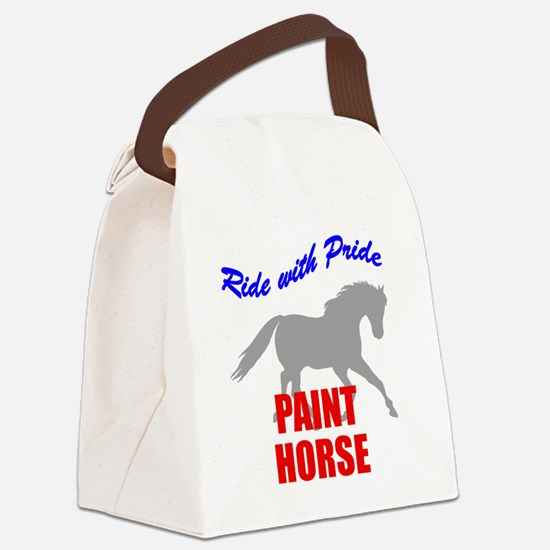 Paint Horse Pride Canvas Lunch Bag