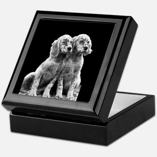 English Setter Pups-2 Keepsake Box