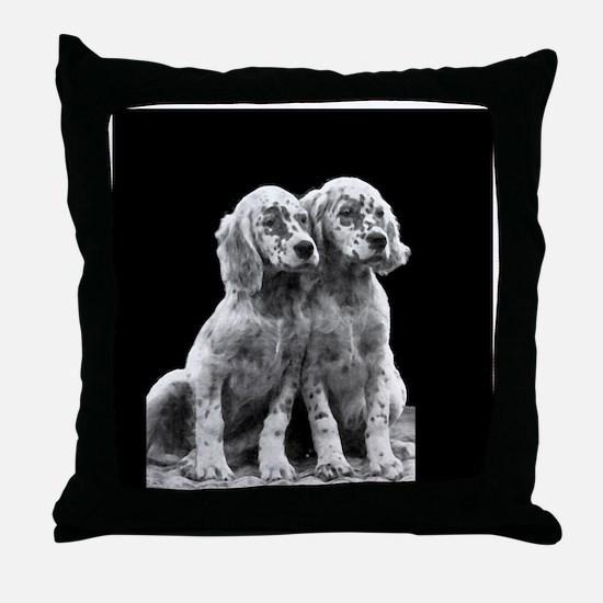 English Setter Pups-2 Throw Pillow
