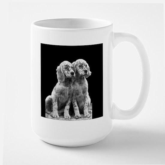 English Setter Pups-2 Large Mug