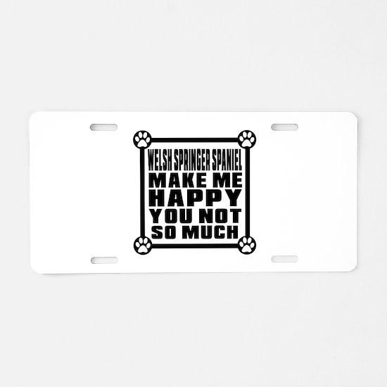 Welsh Springer Spaniel Dog Aluminum License Plate