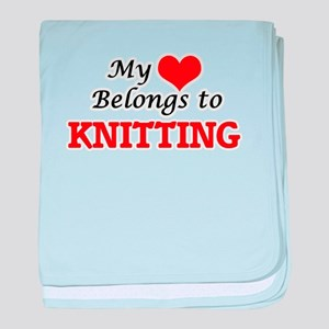 My heart belongs to Knitting baby blanket