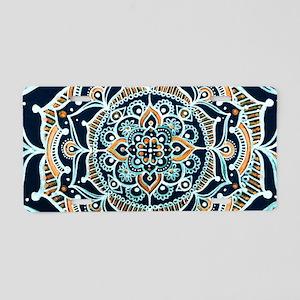 Bohemian Zen Mandala Aluminum License Plate