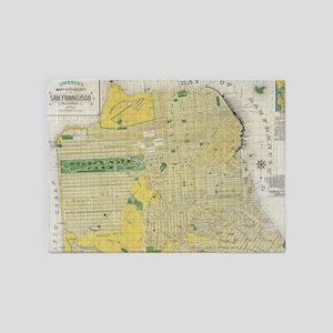 Vintage Map of San Francisco CA (18 5'x7'Area Rug