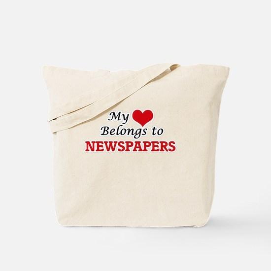 My heart belongs to Newspapers Tote Bag