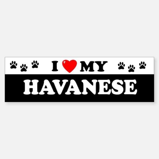 HAVANESE Bumper Car Car Sticker