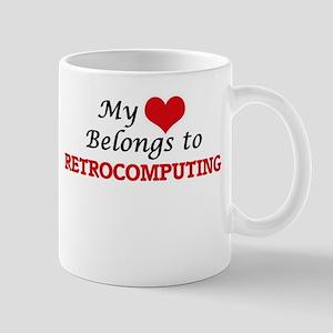 My heart belongs to Retrocomputing Mugs