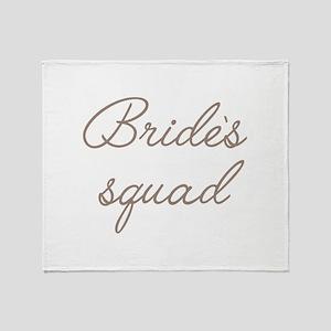 Bride's Squad Throw Blanket