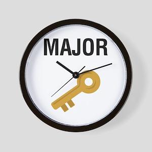 Major Key Wall Clock