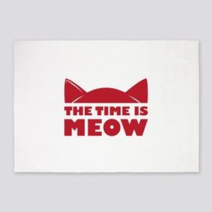 Time Is Meow 5'x7'Area Rug