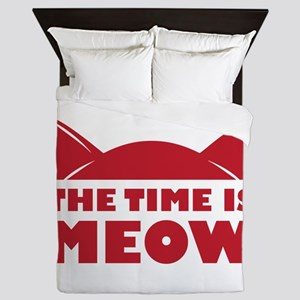 Time Is Meow Queen Duvet