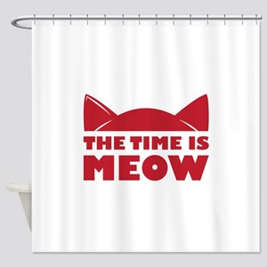 Time Is Meow Shower Curtain