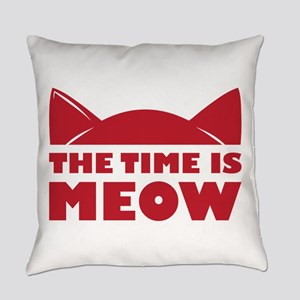 Time Is Meow Everyday Pillow