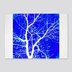 Tree with White Branches 5'x7'Area Rug