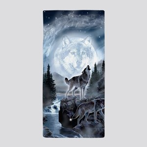 spirt of the wolf Beach Towel