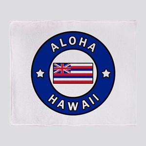 Aloha Hawaii Throw Blanket