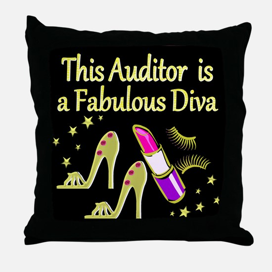 AUDITOR DIVA Throw Pillow